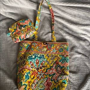 Vera Bradley Tote Bag, Wallet, and Cosmetic Case